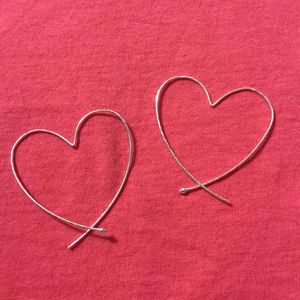 Stella and Dot Heart Hoops